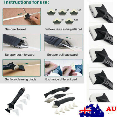 AU8.99 • Buy 6/8x 3 In1 Removal Caulking Tool Silicone Removal Scraper Kit Sealant Replace SC