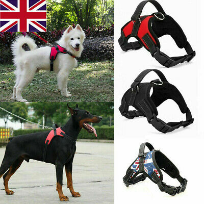 £4.99 • Buy XS-XL Dog Harness Collar Lead Adjustable Padded Resistant Non Pull Vest Puppy
