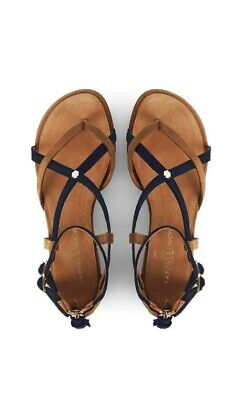 Fairfax & Favour Navy And Tan Brancasters Size 7.5 New • 125£