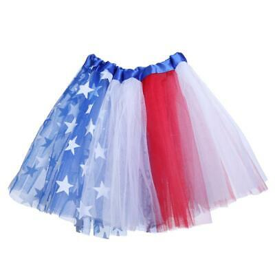 Children Girls Colorful Flag Birthday Party Dancing Princess Tutu Skirt • 5.72£