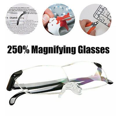 £7.69 • Buy HANDS FREE MAGNIFYING GLASSES MAGNIFIER 250% For READING SEWING PARENT GIFT