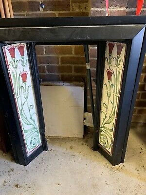 £50 • Buy Edwardian Cast Iron Fire Surround With Tiles