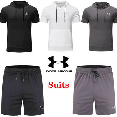 £28.70 • Buy Under Armour Mens T Shirt Hooded Shorts Gym Running Sportswear Quick Dry Suits