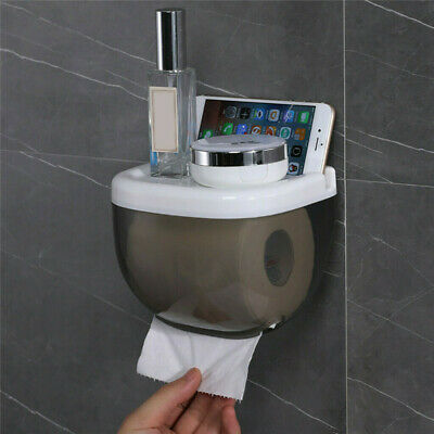 AU10.59 • Buy Wall Mounted Toilet Paper Box Case Shelf Dispenser Holder Waterproof Bathroom
