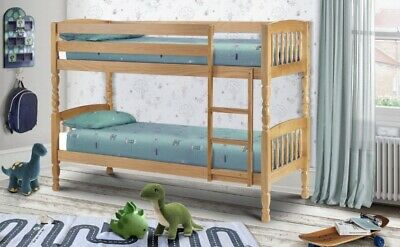 £389 • Buy Julian Bowen Lincoln Bunk Bed With X 2 Open Coil Mattresses