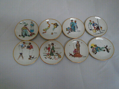 $ CDN24.48 • Buy Vintage Norman Rockwell Plates Four Seasons Series 2 Sets Of 4 Plates