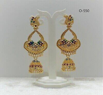 £5.99 • Buy  New Indian Bollywood Gold Plated Oxidised Dangling Light Weight Trendy Earrings