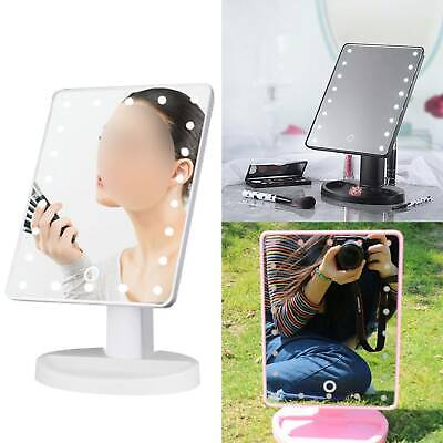22 Led Make Up Vanity Mirror Tabletop Light Up Touch Screen Cosmetic Bathroom UK • 5.99£