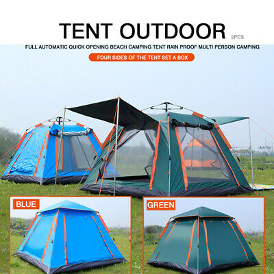AU79.99 • Buy 4-6 Person Camping Tent Anti-UV Waterproof Automatic Opening Outdoor Tent Tool