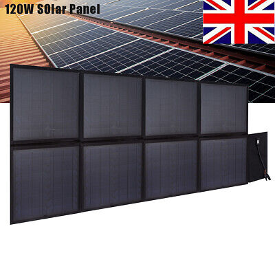 £125.99 • Buy 120W 12V Foldable Solar Panel Kit Mono Home Battery Charger Camping RV Boat Car
