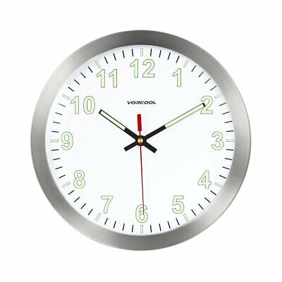 AU26.90 • Buy Luminous Quartz Wall Clock Silent Non Ticking Night Glow In The Dark Home Decor