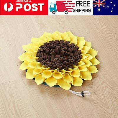 AU18.94 • Buy Sunflower Shape Dog Snuffle Mat Puppy Training Sniffing Feeding Pet Pad  AU