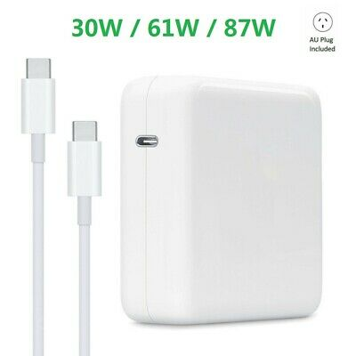 AU36.99 • Buy 30W 61W 87W USB-C Power Adapter Charger Type-C For Apple Macbook Air Pro Laptop