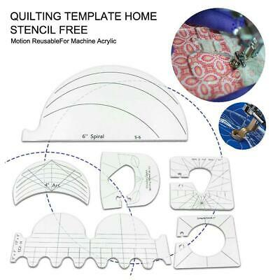 $12.07 • Buy 6 Pcs Sewing Tool Kit For Domestic Sewing  Machine Quilting Ruler Template Set