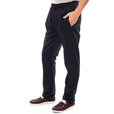 £11.99 • Buy Black Chefs Chef Caterers Catering Cooks Elasticated Unisex Trousers Pants