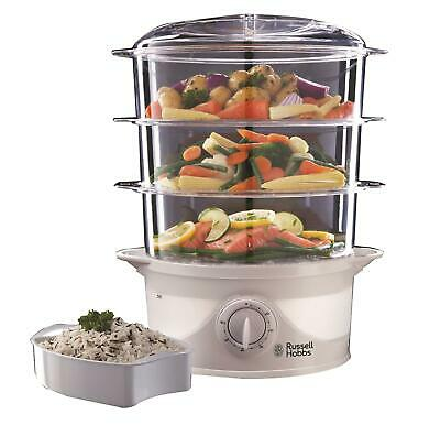 £29.99 • Buy Russell Hobbs 3 Tier Food Steamer With Rice Bowl, Timer And Fast Heat Up, 9L