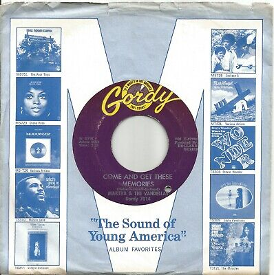 £12 • Buy Martha And The Vandellas - Come And Get These Memories - Gordy Northern Soul 7