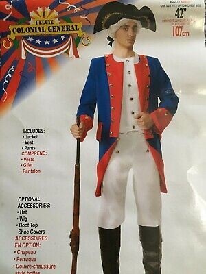 $34 • Buy Adult Blue/Red Colonial General Costume, Size M/L