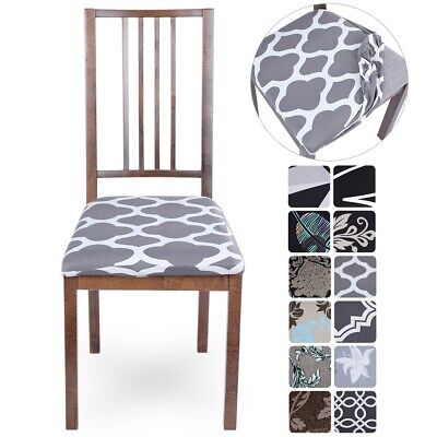 AU5.69 • Buy Stretch Dining Chair Seat Covers Removable Seat Cushion Slipcovers Protector Hot
