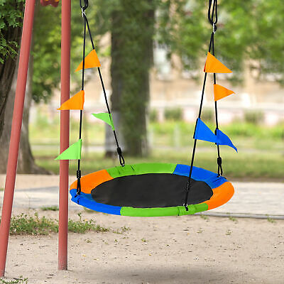 £30.99 • Buy Outsunny 100cm Nest Tree Swing Adjustable Rope Playground For Kids Over 3 Years