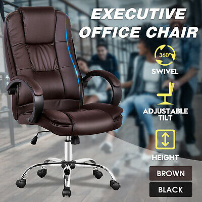 AU139.90 • Buy Executive Office Chair Racing Gaming Computer Seat Ergonomic PU Leather Work
