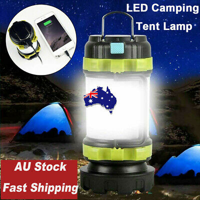 AU20.99 • Buy LED Camping Lantern Outdoor Tent Light Hiking Lamp Torch USB Rechargeable Phone