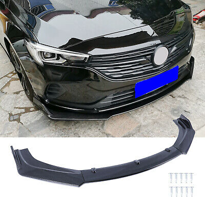 $40.99 • Buy Universal Front Bumper Lip Body Kit Spoiler, Black With Carbon Fiber Pattern