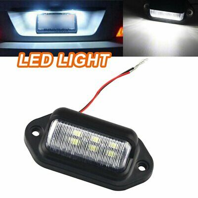 AU8.96 • Buy 1PCS 6 LED License Number Plate Light Lamps For Truck SUV Trailer Lorry 12V CF