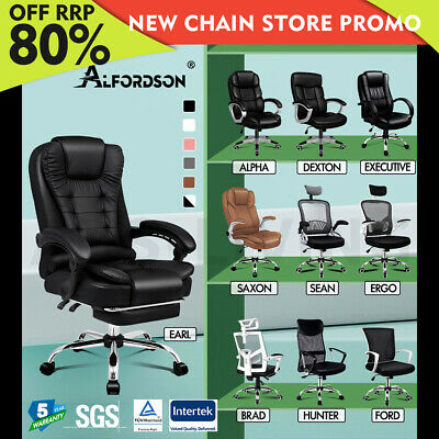 AU139.80 • Buy ALFORDSON Office Chair Executive Mesh Style Gaming Seat Leather Fabric Racing