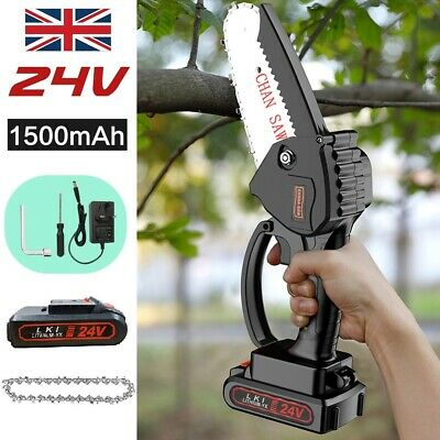 £39.99 • Buy Rechargeable Mini Handheld Cordless Electric Chainsaw Wood Cutter Cutting Tool~+