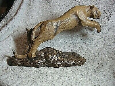 £19 • Buy Large Leonardo Wood Effect Leaping Tiger ( 13 Inches Long,just Under 9  Tall )