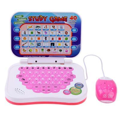 Bilingual Early Educational Learning Machine Kids Laptop Toys With Mouse • 8.99£