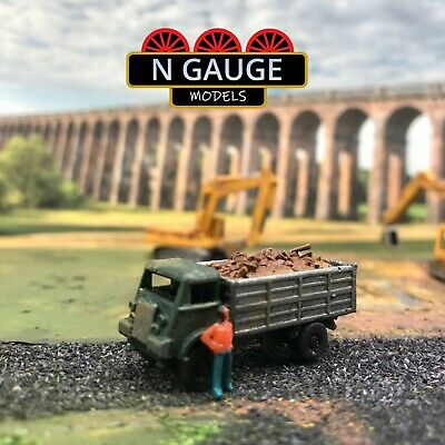 £11.99 • Buy Classic British Tipper Lorry Loaded (Dirt/Rubble) N Gauge Scale 1:148 Truck