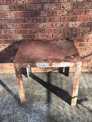 AU95 • Buy Antique Steel Industrial Agricultural Table Frame Great Patina Solid