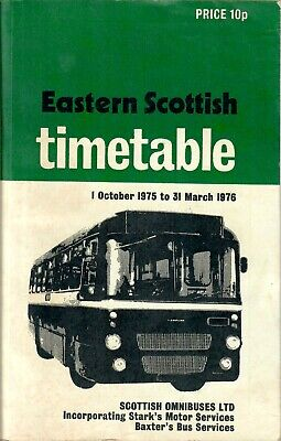 £8.75 • Buy Eastern Scottish Timetable Book October 1975 To March 1976 Inc Starks & Baxters