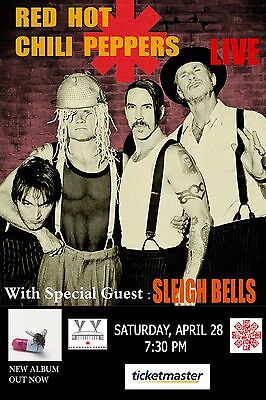 $15.83 • Buy Red Hot Chili Peppers / Sleigh Bells 2012 Toronto, Canada Concert Tour Poster