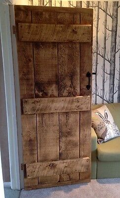 £145 • Buy Old World ~ Solid Ledged Doors ~ Rustic ~ Made To Measure 45mm Thick
