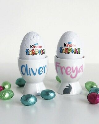 £4.50 • Buy Personalised Egg Cup Easter Gifts Eggs Bespoke Gift Present Easter Bunny Chick