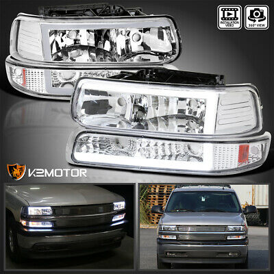 $195.38 • Buy For 1999-2002 Chevy Silverado LED Tube Headlights+Bumper Signal Lamps Lights