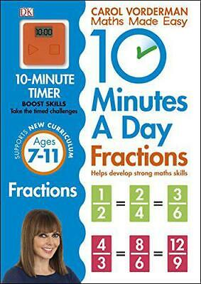 £5.90 • Buy 10 Minutes A Day Fractions By Vorderman, Carol, NEW Book, FREE & FAST Delivery,