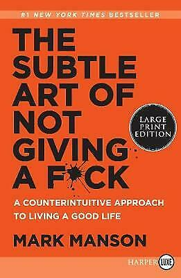 AU28.67 • Buy The Subtle Art Of Not Giving A Fck A Counterintuitive Approach To Living A Good