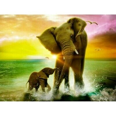 AU16.89 • Buy 5D Elephant Animal Diamond Painting Kits Full Drill Embroidery Decors DIY Mural