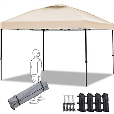3x3m Pop Up Gazebo Waterproof Instant Tent Sheter Height Adjustable Sun Shelter • 119.99£