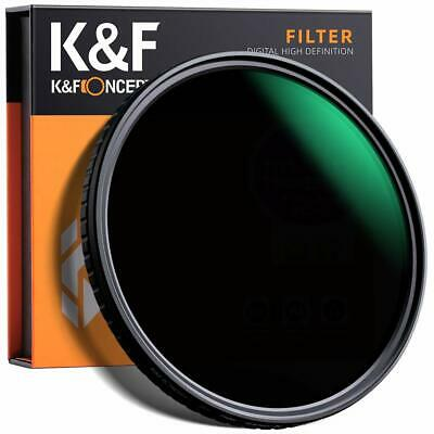 AU52.99 • Buy K&F58/62/67/72/77/82mm Variable ND Filter ND8-ND128 Neutral Density No  X  Cross