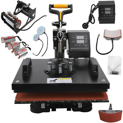 AU303.99 • Buy High Pressure Heat Press Transfer Sublimation Machine T-Shirt Printer 8 In 1 AU