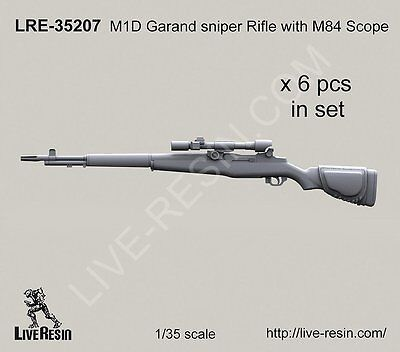 $11.99 • Buy Live Resin 35207 1/35 M1D Garand Sniper Rifle With M84 Scope
