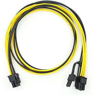 4 X 6pin To 8pin (6+2) PCIe 60CM Extended Power Cable For GPU/ASIC Mining HOT~ • 11.96£