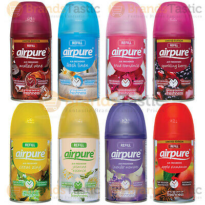 £14.49 • Buy 12 X Airpure Automatic Spray Refills Home Office Air Freshener 250ml