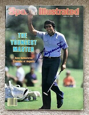 £266.18 • Buy 2 Time THE MASTERS Golf Winner SEVE BALLESTEROS Signed 80's Sports Illustrated