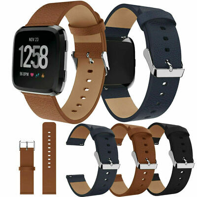 $ CDN15.77 • Buy For Fitbit Versa 3 / Sense Genuine Leather Watch Band Strap Buckle Wristband